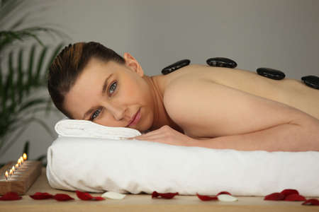 young woman relaxing in a spa center Stock Photo - 11774766