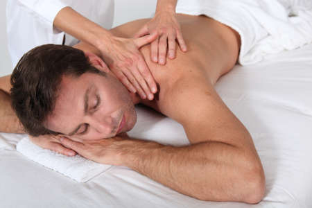 Man having a massage photo