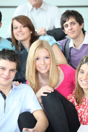 undeveloped: College classmates Stock Photo