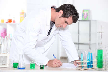 Man standing in laboratory photo