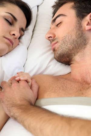 passion couple: Couple sleeping