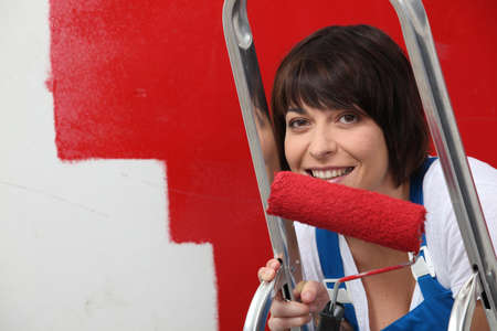 portrait of a woman painting Stock Photo - 11774936