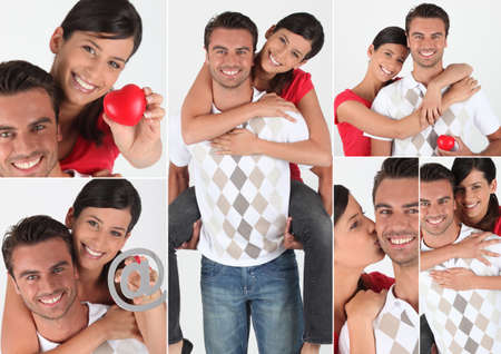 Collage of a couple in love photo