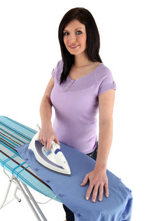 Woman ironing photo