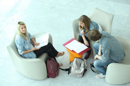 Teenagers revising Stock Photo - 11776414