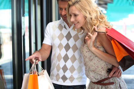 Couple shopping Stock Photo