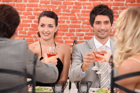Friends dining photo