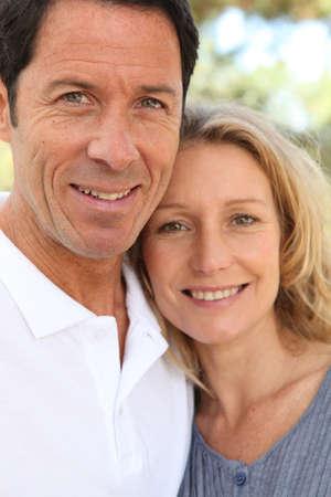 men 45 years: Couple smiling