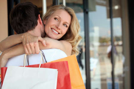 Couple on a shopping trip photo