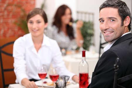 Couple dining photo