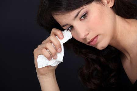 cheerless: Crying woman