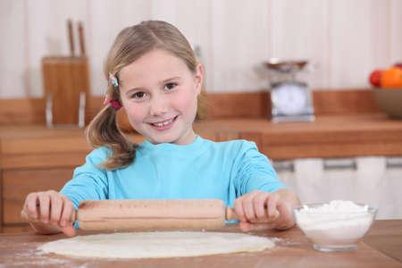 little girl preparing tart Stock Photo - 11774987