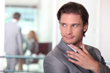 Businessman watching Stock Photo - 11775511