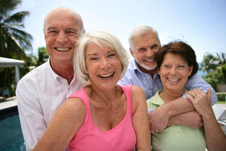 mature adult men: Due coppie vecchie