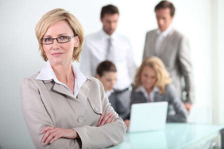 Female executive wearing glasses photo
