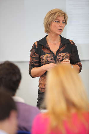 sessions: Female college teacher