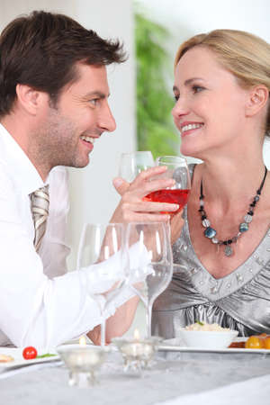 couple at table Stock Photo - 11796177