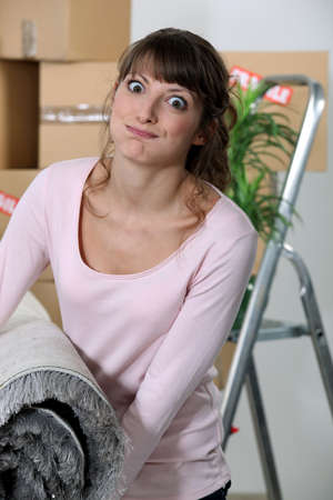 A woman moving out. Stock Photo - 11797010