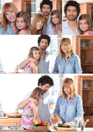 Collage of family portraits photo