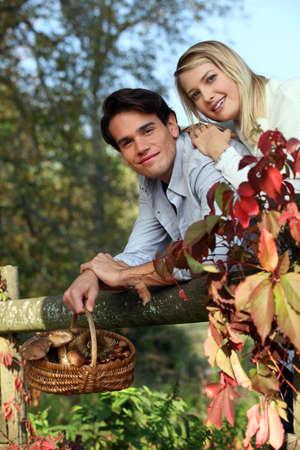 Perfect couple on a nice Sunday walk. Stock Photo - 11796423