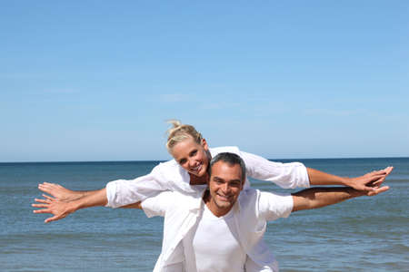 Couple by the sea photo