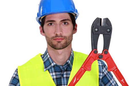 Construction worker portrait photo