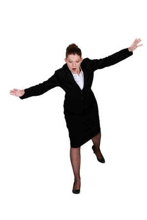 alarming: Mujer miedo a las alturas
