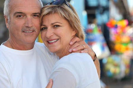 55 to 60: Couple on holiday together Stock Photo