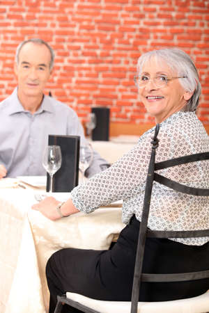 65 years old: Couple dining
