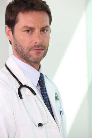 circumspect: Portrait of doctor Stock Photo