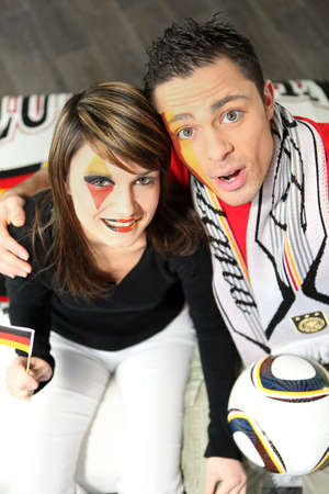Two German supporters photo