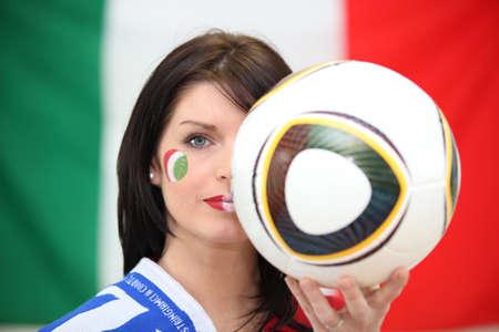 fair play: Italian football fan Stock Photo