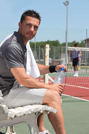 sportsperson: Tennis player Stock Photo