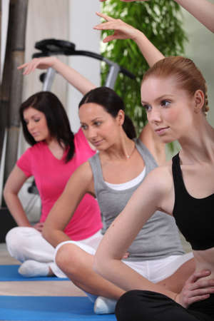 Women in an exercise class photo