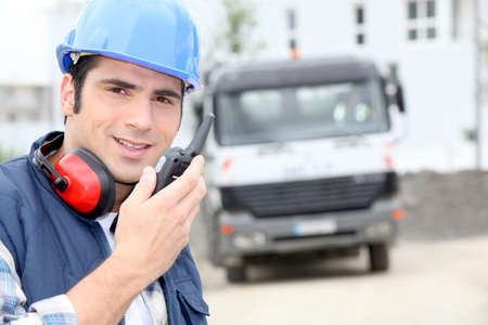portrait of a construction worker Stock Photo - 11796670