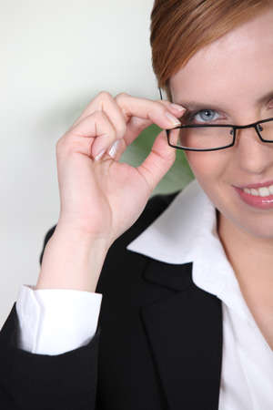 Closeup of a woman in glasses Stock Photo - 11824862