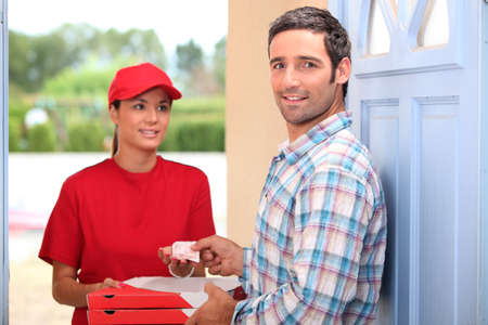 Pizza delivery service photo