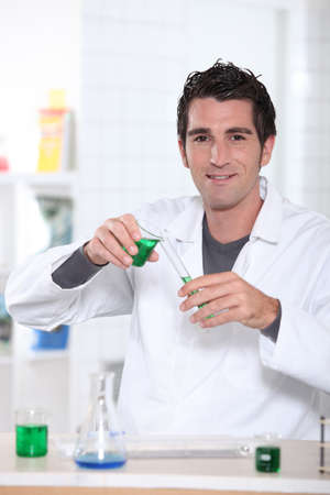 A scientist working in a lab photo