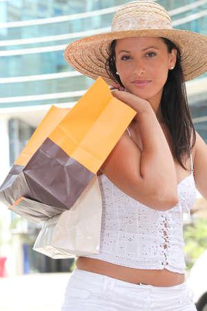 beautiful young woman shopping Stock Photo - 11824952