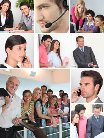 Collage showing office  workers photo