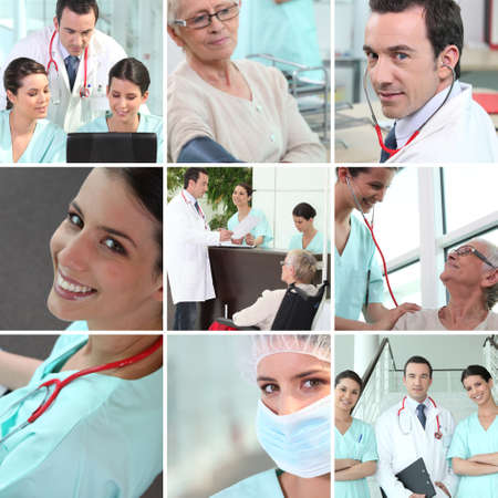 Hospital staff mosaic Stock Photo - 11825350