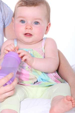 bonny: holding infant