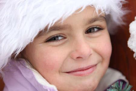 Portrait of a cute little girl by wintertime Stock Photo - 11823161