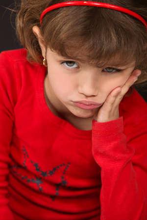 miffed: little girl sulking