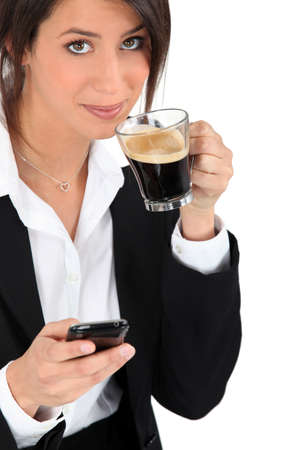 dark haired: coffee break