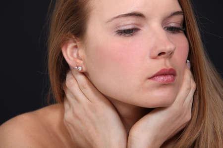 impassive: Portrait of a sensual woman Stock Photo