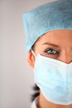 enfermera con cofia: Cirujano Mujer