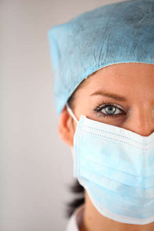 doctor mask: Female surgeon