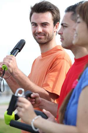 torsion: Friends exercising together
