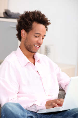man relaxing at home Stock Photo - 11823889